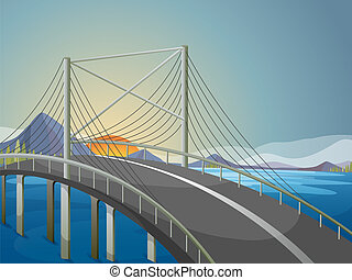 A long bridge - Illustration of a long bridge