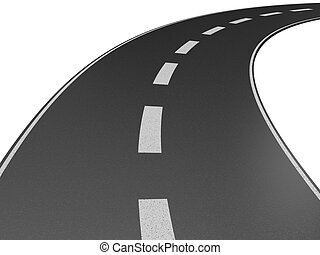 a long road - Illustration of a long, winding road...
