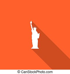 Long Shadow with an Icon of Statue of Liberty