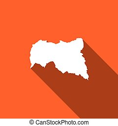 Long Shadow with the shape of the Country of Central African...