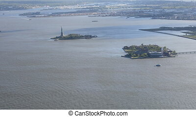 Long view of the Statue of Liberty