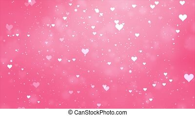 A looping background of hearts and stars loop Background Animation.