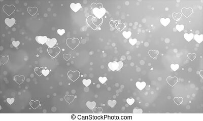 A looping background of hearts and stars loop Background ...