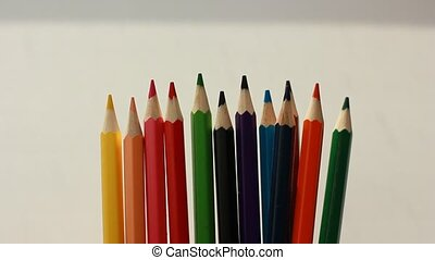 A lot colored pencils
