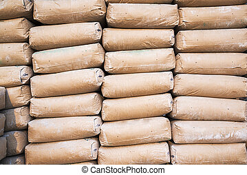 a lot of bags cement