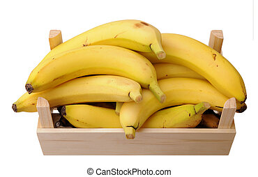 bananas in wooden case