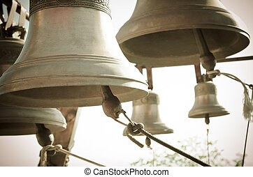 bells - a lot of bells in a church
