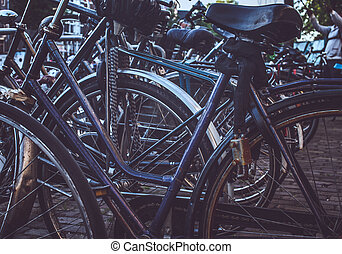 A lot of bicycles.