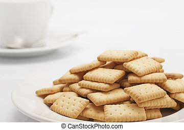 A lot of biscuits were served in a dish