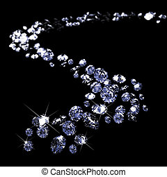 a lot of diamonds, scattering across the black - a lot of...