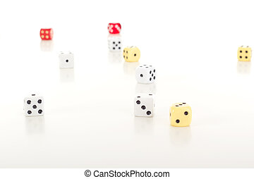 A lot of dice on the table