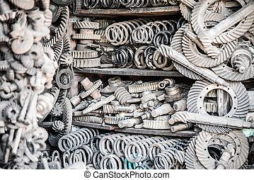 a lot of different auto spare parts.