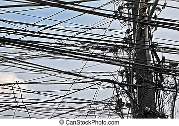 A Lot of Electric Cables