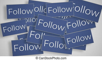 """A lot of Follow buttons"" - ""A lot of Follow buttons. Social..."