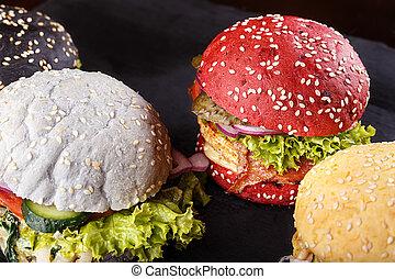 lot of hamburgers