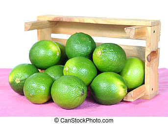 lime in wooden crate