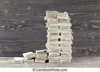 a lot of paper cash