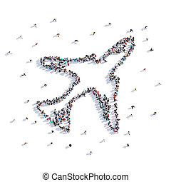 A lot of people form aircraft