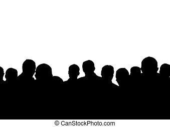 a lot of people - group on the white background(made from my...
