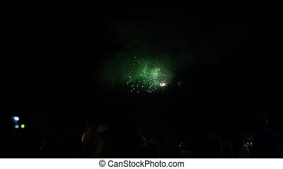a lot of people watching Fireworks Fireworks night on...