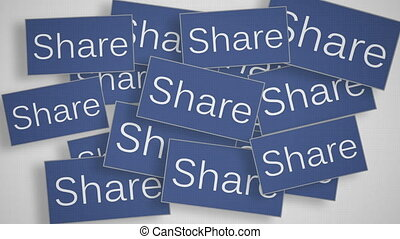 A lot of Share buttons. Social media concept