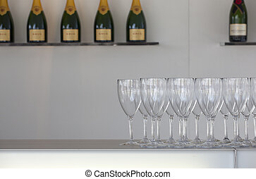 Sparkling wine and glasses - A lot of Sparkling wine and...