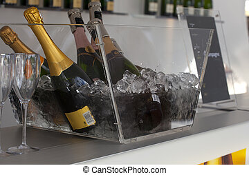 Sparkling wine - A lot of Sparkling wine and glasses