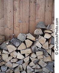stapled wood