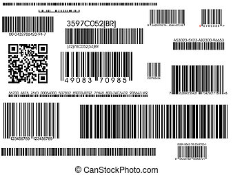 standard barcodes and shipping barcode - a lot of types...