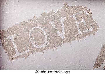 love paper abstract beige background