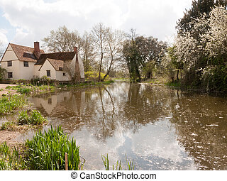 A Lovely Shot of the Water and Cottage Down at Flatford Mill