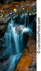 waterfall - a lovely waterfall flowing rapidly