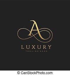 A Luxury Letter Logo Design Vector
