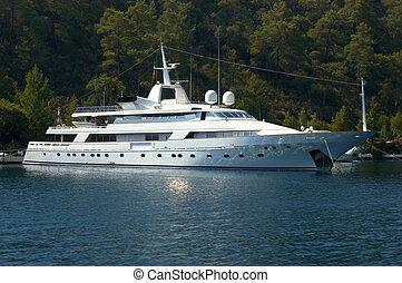 a luxury million dollar yacht