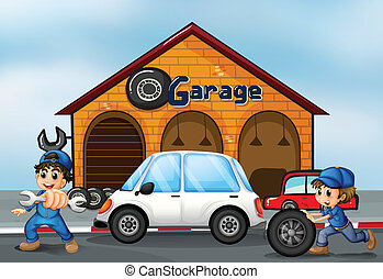 auto parkende garage auto bild garage parken. Black Bedroom Furniture Sets. Home Design Ideas