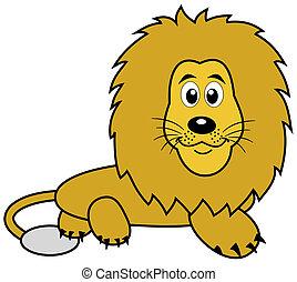 a lying lion plush