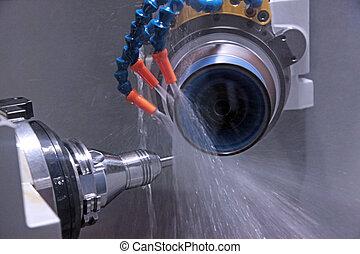 a, máquina, para, ferramenta, afiando