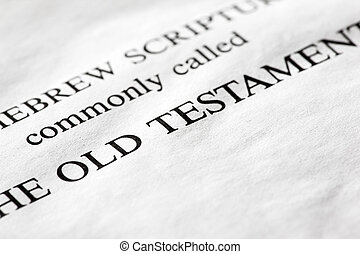 A macro detail of the Old Testament in the Christian bible