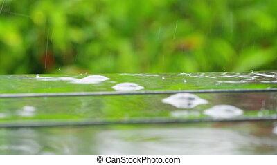 A macro shot of water drops