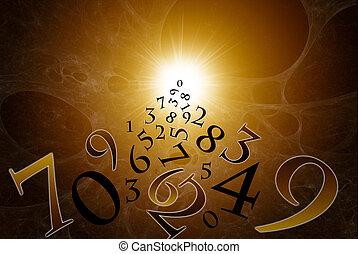 a, magia, números