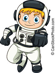Illustration of a male astronaut on a white background