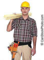 A male carpenter.