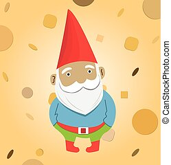 A male garden gnome