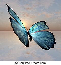 Morpho Butterfly - A male Morpho Butterfly Illustraion...