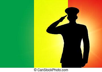 a, malian, bandeira