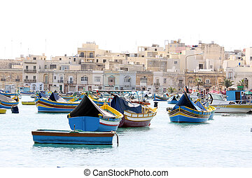 maltese fishing village - a maltese fishing village in the...