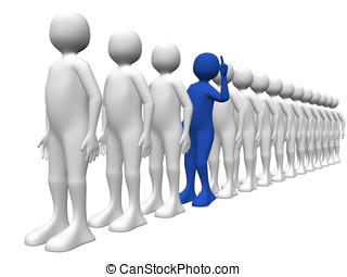 A man asking a question - A man in the queue is asking a...