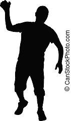a man body silhouette