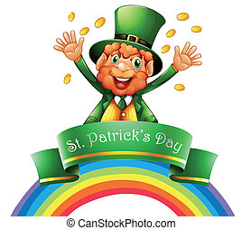 A man celebrating the day of St. Patrick - Illustration of a...