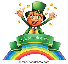 A man celebrating the day of St. Patrick - Illustration of a...